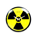 Nuclear Radiation Sign Glass Analog Wall Clock