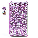 Colorful Protective PVC Case with Crystals Cover for iPhone 4, 4S