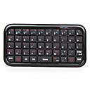 Mini Bluetooth inalámbrico de teclado QWERTY (negro)