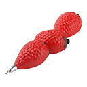 Strawberry Shaped Blue Ink Ballpoint Pen with Magnet (Red)