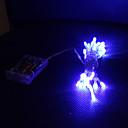 3m blå 30 LEDstring lys 2 gnister tilstande (blinker, lyser konstant)