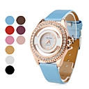 Women's Golden Watchcase Style PU Leather Analog Quartz Wrist Watch (Assorted Colors)