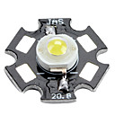 6000-6500k 0.75W 80-90LM 280mAh White LED Light Bulb with Aluminum Plate (3.0-3.4V)