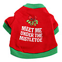 Merry Christmas Cotton T-Shirt for Dogs (XS-L)