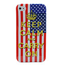 USA Flag Keep Calm and Carry On Design for iPhone 4 and 4S (Multi-Color)