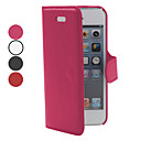 Cross Lines Grain PU Leather Case for iPhone 5/5S (Assorted Colors)
