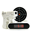Novelty Laser Gun Target Shooting Digital Alarm Clock (4xAA)