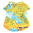 Hawaii Style Day View Pattern T-Shirt for Dogs (XS-XL)