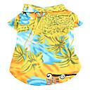 hawaii Stil Tagesansicht Muster T-Shirt für Hunde (XS-XL)
