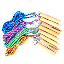 Wooden Handle Cotton Skipping Rope (Random Color,3M)