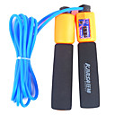 Sponge Handle Rubber Adjustable Skipping Rope with Counting Function(Assorted Colors,3.1M)