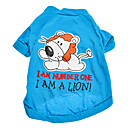 Dog T-Shirt - XS / S / M / L - Spring/Fall - Blue Cotton