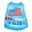 Cani T-shirt / Abiti / Abbigliamento Blu Estate Bandiera / Americano / Stati Uniti d'America