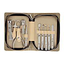 Personal Care 10pcs Cosmetic Manicure Kits Set with Beige Portable Bag