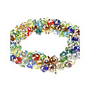 Colorido de cristal Bead Alloy Bracelace Knit