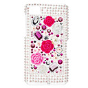 Small Flower Pattern Hard Case with Rhinestone for Blackberry Z10