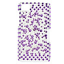 Elegantti Purple Diamond ja Pearl Pattern Hard Case kanssa tekojalokivi Blackberry Z10