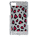 Purple Dot Pattern Hard Case with Rhinestone for Blackberry Z10