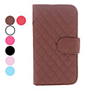 Grid Style PU Leather Case with Card Slot for Samsung Galaxy S3 I9300 (Assorted Colors)