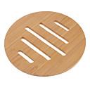 Beige Bamboo Round Coasters