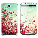 SX-041 Flower Pattern Front and Back Protector Stickers for Samsung Note 2 N7100