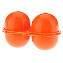 Portable Beschermende ABS 2-Compartiment Egg Storage Box - Oranje