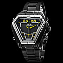 WEIDE® Men's Watch Military Black Steel Triangle Shape Analog-Digital Multi-Functional