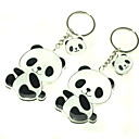 1 Par Lovely Panda Keychain Black & White