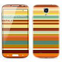 Stripe Pattern Front and Back Protector Stickers for Samsung Galaxy S4 I9500