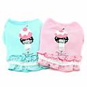 Dog Dresses - XS / S / M / L - Summer - Green / Pink Cotton