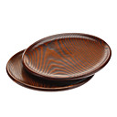22cm Wooden Shallow Dish (2pcs)