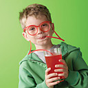 تصميم الجدة النظارات قش الشرب لينة أنبوب