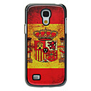 Spanish Flag Pattern Aluminum Hard Case for Samsung Galaxy S4 mini I9190