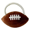 American Football Style Cotton Rope Plush Toy for Pets Dogs (Diameter: 13cm)