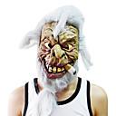 Pušenje sijeda kosa Starac maska s pokrivalo za glavu za Halloween kostim stranke