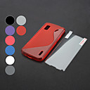 S Pattern TPU Soft Protective Case with Screen Protector for Google LG Nexus 4 E960 (Optional Colors)