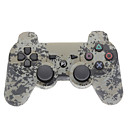 Gray Kamuflase dual-Shock Bluetooth V4.0 Wireless Controller untuk PS3