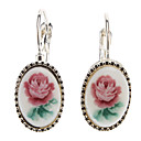Graceful Blumenmuster Ellipse Earing
