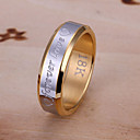 Everlasting love steel ring men