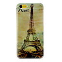 Vintage Eiffel-torni Pattern Hard Case for iPhone 5C