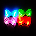 Flash Glowing Bowknot Hairpin for Pets Dogs(Random Color)