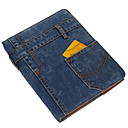 Denim Materiale Design med Stander etui til iPad2/3/4