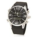 Multi-fonctionnel analogique-numérique cadran des hommes Rubber Band Quartz-LCD montre-bracelet