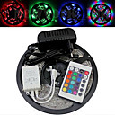 Waterdichte 5M 300X3528 Smd Rgb Led Light Strip en 24Key Remote Controller en AC110-240V naar Dc12V3A Transformer