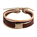 Café le bracelet en cuir en cuir de 5,4 cm Punk hommes (1 PC)