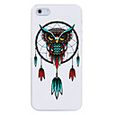 Owl Feathers Plastic Back Case for iPhone 5/5S