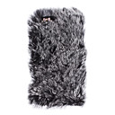 Ladies 'Graceful Rex Rabbit Fur Covered Hard Case dengan Berlian Kamera Chrome untuk iPhone 5/5S (Warna Aneka)
