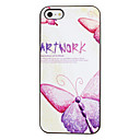 Butterfly Art Work Pattern PC Hard Case Black Frame for iPhone 5/5S