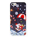 Christmas Series Father Christmas and Parachute Pattern Hard Case for iPhone 5/5S