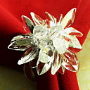Crystal Lotus Wedding Napkin Ring Set Of 12, Acrylic Dia 4.5cm
